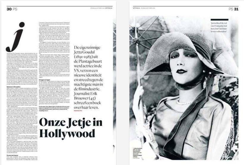 Erik Brouwer nieuw boek DIVA over Jetta Goudal in Parool