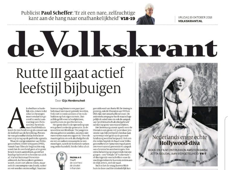 Erik Brouwer nieuw boek DIVA over Jetta Goudal in de Volkskrant
