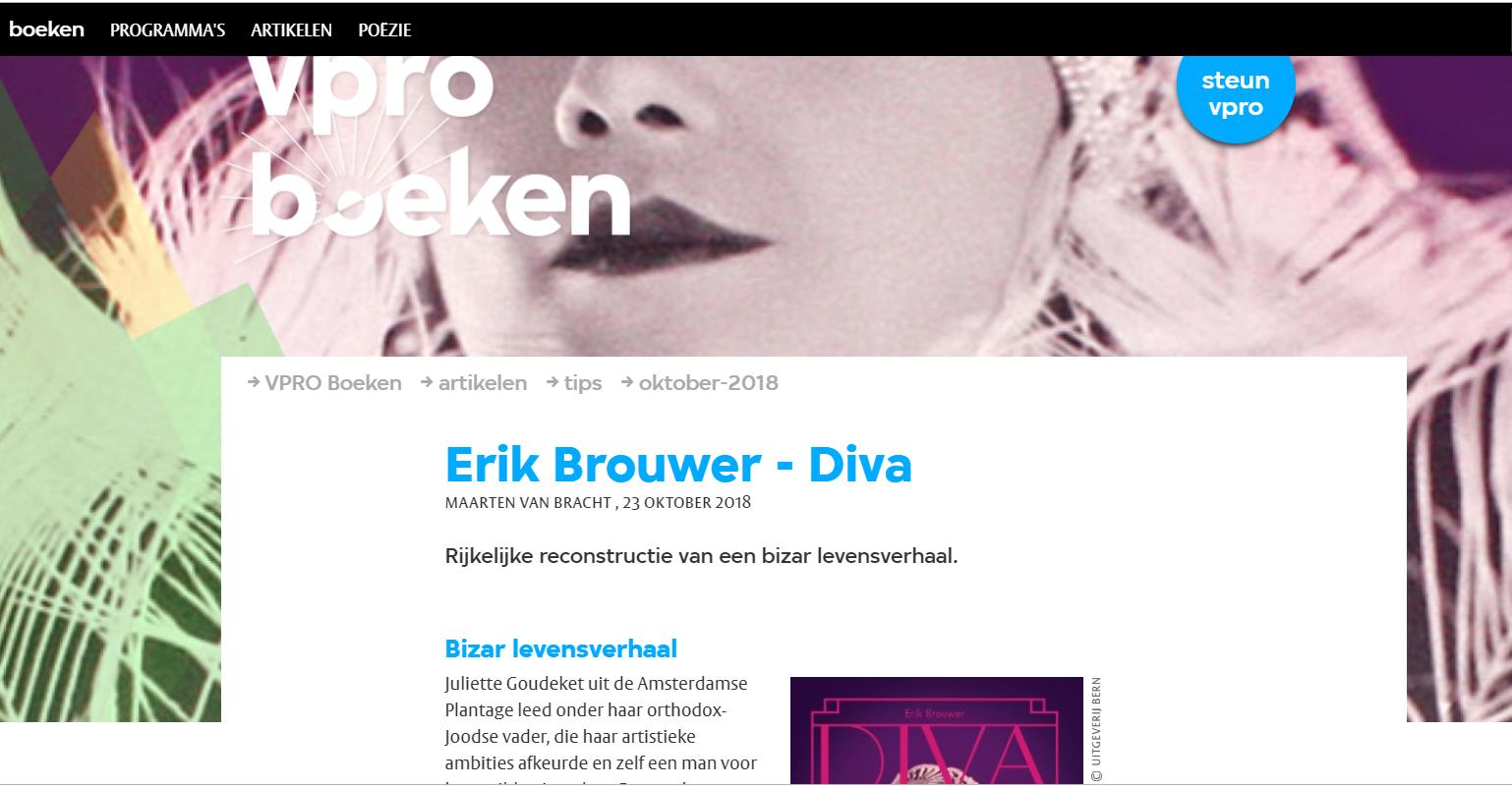 VPRO boeken Recensie DIVA van Erik Brouwer over het leven van Hollywoodster Jetta Goudal